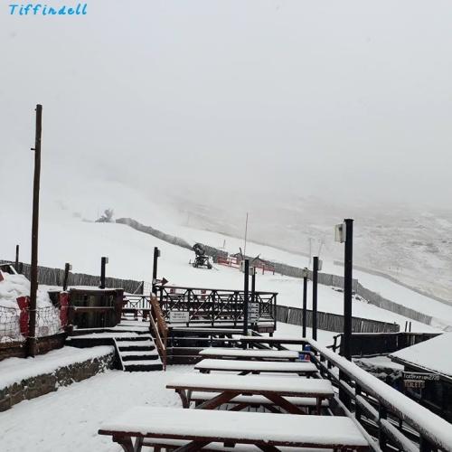 Tiffindell - snowing